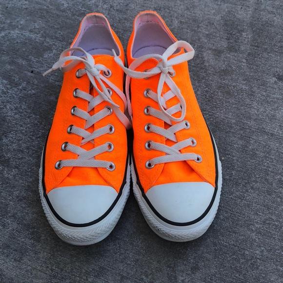 Neon Orange Converse Mens Size 8 Womans